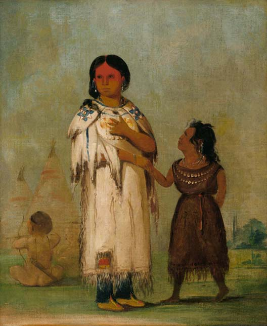 Assiniboine Woman and Child, 1832