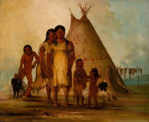 Two Comanche Girls, 1834
