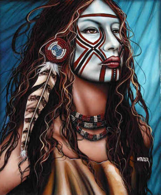 Native American Female Warriors - Face Paint